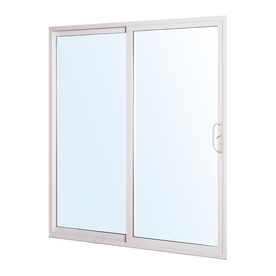 ReliaBilt 332 Series 70.75-in Clear Glass White Vinyl Sliding Patio Door