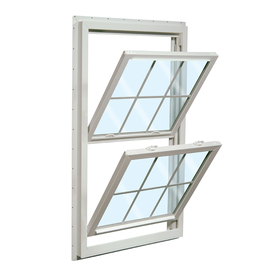 ReliaBilt 455 Series Vinyl Double Pane Single Strength New Construction Double Hung Window (Rough Opening: 32-in x 54-in Actual: 31.5-in x 53.5-in)
