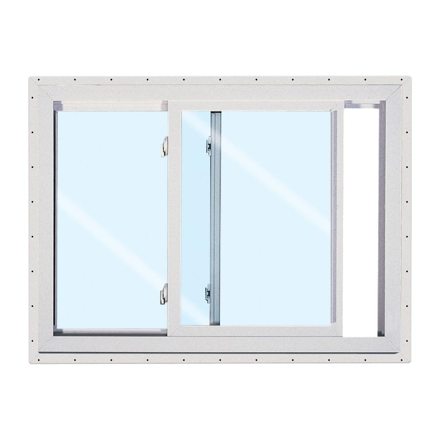 Shop reliabilt 150 series left operable vinyl double pane for Double pane vinyl windows
