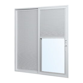 ReliaBilt 332 Series 5-ft 10-1/2-in-in Tempered Blinds Between The Glass Vinyl Sliding Patio Door