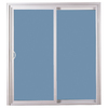 ReliaBilt 311 Series 58.75-in Dual-Pane Clear Vinyl Sliding Patio Door
