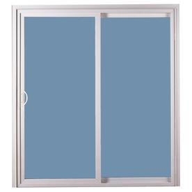 ReliaBilt 311 Series 58.75-in Clear Glass White Vinyl Sliding Patio Door