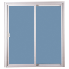 ReliaBilt 311 Series 70.75-in Low-E Argon Clear Vinyl Sliding Patio Door