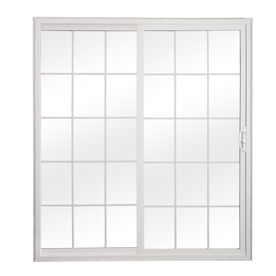 ReliaBilt 312 Series 70-3/4-in Dual-Pane Grilles Between the Glass Vinyl Sliding Patio Door