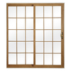 ReliaBilt 312 Series 70.75-in Grilles Between the Glass Light Oak Int/White Ext Vinyl Sliding Patio Door