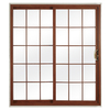 ReliaBilt 332 Series 70.75-in Dual-Pane Grilles Between The Glass Vinyl Sliding Patio Door