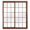 ReliaBilt 332 Series 70.75-in Grilles Between the Glass Cherry Int/White Ext Vinyl Sliding Patio Door