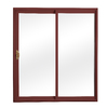 ReliaBilt 300 Series 58.75-in Clear Glass Wh Int/Red Ext Vinyl Sliding Patio Door with Screen