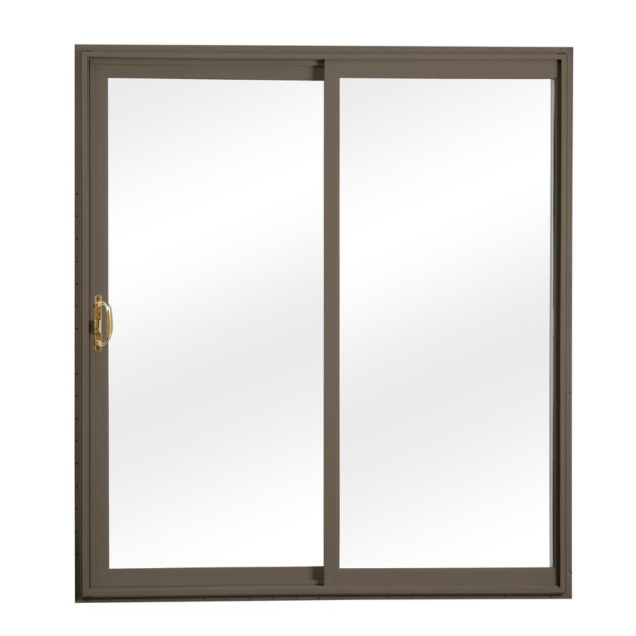Shop reliabilt 300 series clear glass vinyl for Sliding glass door screen