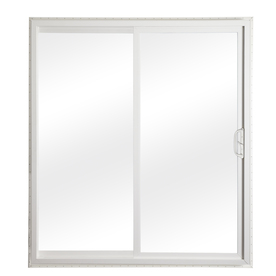 ReliaBilt 332 Series 58.75-in Clear Glass White Vinyl Sliding Patio Door with Screen