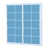 ReliaBilt 300 Series 58-3/4-in Tempered Grilles Between The Glass Vinyl Patio Door