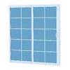 ReliaBilt 300 Series 58.75-in Grilles Between the Glass White Vinyl Sliding Patio Door