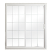 ReliaBilt 332 Series 5-ft 10-1/2-in-in Low-E Insulating Grilles Between The Glass Vinyl Sliding Patio Door