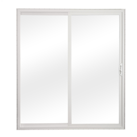 ReliaBilt 300 Series 5-ft 10-1/2-in-in Tempered Grilles Between The Glass Vinyl Sliding Patio Door