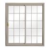 ReliaBilt 332 Series 70.75-in Grilles Between the Glass Wh Int/Clay Ext Vinyl Sliding Patio Door with Screen