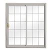 ReliaBilt 332 Series 70.75-in Grilles Between the Glass Wh Int/Gray Ext Vinyl Sliding Patio Door with Screen