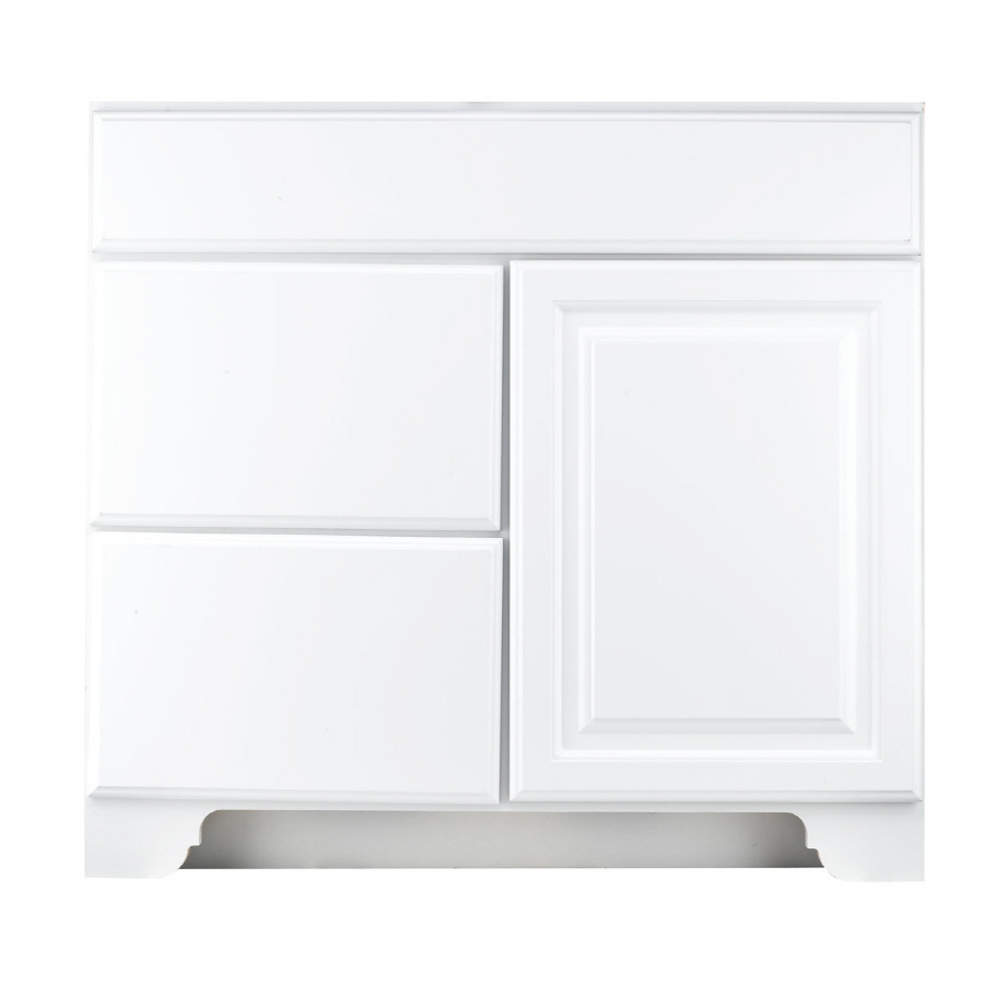 Shop Kraftmaid Traditional White Traditional Bathroom Vanity Common 30 In X 18 In Actual 30