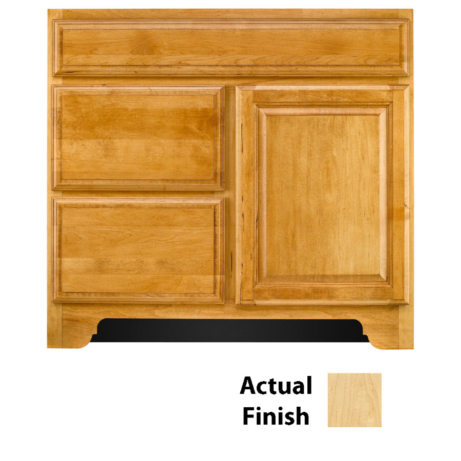 Shop Kraftmaid Traditional Natural Traditional Bathroom Vanity Common 36 In X 18 In Actual