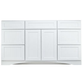 Shop Kraftmaid Cottage White Casual Bathroom Vanity Common 48 In X 21 In Actual 48 In X 21