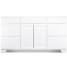 Shop Kraftmaid Traditional White Traditional Bathroom Vanity Common 48 In X 21 In Actual 48