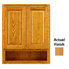 KraftMaid 24-in W x 30-in H x 7-in D Honey Spice Oak Bathroom Wall Cabinet