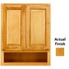 KraftMaid 24-in W x 30-in H x 7-in D Honey Spice Maple Bathroom Wall Cabinet