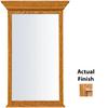 KraftMaid 25.44-in W x 40.75-in H Honey Spice with Mocha Highlight Rectangular Bathroom Mirror