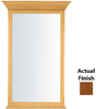 KraftMaid 40-3/4-in H x 25-1/2-in W Traditional Collection Chestnut Rectangular Bathroom Mirror