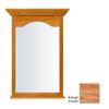 KraftMaid 25.44-in W x 40.75-in H Honey Spice Rectangular Bathroom Mirror