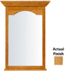 KraftMaid 25.44-in W x 40.75-in H Honey Spice Rectangular Bathroom Mirror