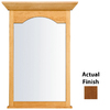 KraftMaid 25.44-in W x 40.75-in H Chestnut Rectangular Bathroom Mirror