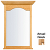 KraftMaid 25.44-in W x 40.75-in H Ginger with Sable Glaze Rectangular Bathroom Mirror