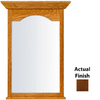 KraftMaid 40-3/4-in H x 25-1/2-in W Cottage Collection Cognac Rectangular Bathroom Mirror