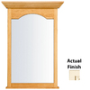 KraftMaid 40-3/4-in H x 25-1/2-in W Cottage Collection Canvas Cocoa Glaze Rectangular Bathroom Mirror