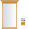 KraftMaid 40-3/4-in H x 25-1/2-in W Traditional Collection Honey Spice Rectangular Bathroom Mirror
