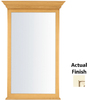 KraftMaid 40-3/4-in H x 25-1/2-in W Traditional Collection Biscotti Cocoa Glaze Rectangular Bathroom Mirror