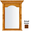 KraftMaid 28.95-in W x 37.05-in H Cognac Rectangular Bathroom Mirror