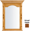 KraftMaid 28.95-in W x 37.05-in H Chestnut Rectangular Bathroom Mirror