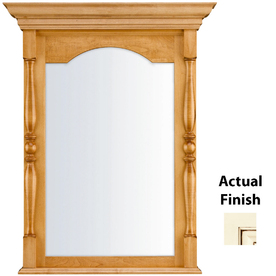KraftMaid 28.95-in W x 37.05-in H Biscotti with Cocoa Glaze Rectangular Bathroom Mirror