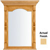 KraftMaid 28.95-in W x 37.05-in H Natural Rectangular Bathroom Mirror