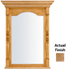 KraftMaid 28.95-in W x 37.05-in H Toffee Rectangular Bathroom Mirror