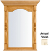 KraftMaid 28.95-in W x 37.05-in H Canvas with Cocoa Glaze Rectangular Bathroom Mirror