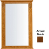 KraftMaid 25.25-in W x 37.5-in H Cognac Rectangular Bathroom Mirror
