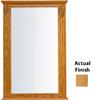 KraftMaid 25.25-in W x 37.5-in H Honey Spice Rectangular Bathroom Mirror