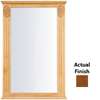 KraftMaid 25.25-in W x 37.5-in H Chestnut Rectangular Bathroom Mirror