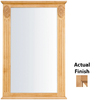 KraftMaid 25.25-in W x 37.5-in H Ginger with Sable Glaze Rectangular Bathroom Mirror