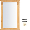 KraftMaid 25.25-in W x 37.5-in H Biscotti with Cocoa Glaze Rectangular Bathroom Mirror