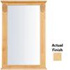 KraftMaid 25.25-in W x 37.5-in H Natural Rectangular Bathroom Mirror