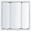 KraftMaid 47-3/4-in White Surface Mount and Recessed Medicine Cabinet