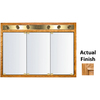 KraftMaid Classic 47-in x 33-in Square Surface/Recessed Mirrored Wood Medicine Cabinet with Lights